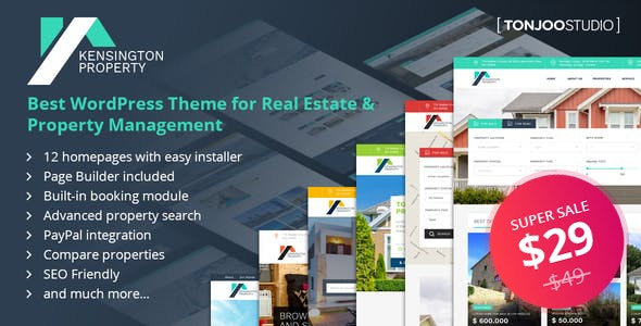 Kensington - Real Estate and Property Management WordPress Theme 2