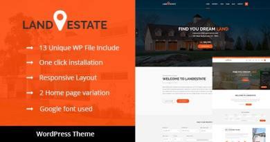 Land Estate - Real Estate/Single Property WordPress Theme 3