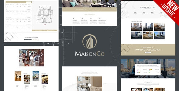 MaisonCo - Single Property WordPress Theme 1