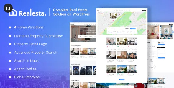 Realesta - Property Sales & Rental WordPress Theme 2