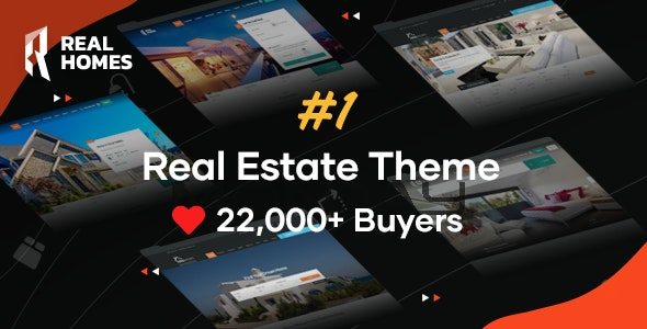 RealHomes - Estate Sale and Rental WordPress Theme 1