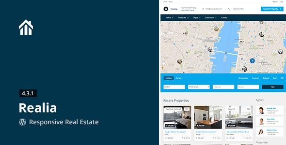 Realia - Responsive Real Estate WordPress Theme 1
