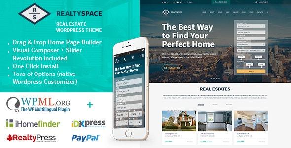 Realtyspace - Real estate WordPress Theme 9
