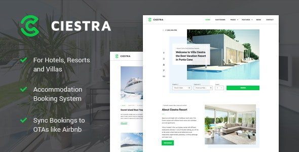 Resort Hotel WordPress Theme - Ciestra 1