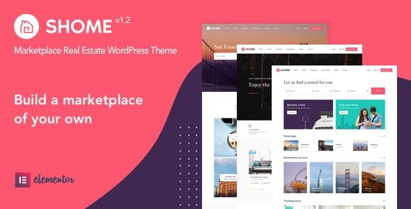 SHome | Marketplace Real Estate WordPress Theme 1