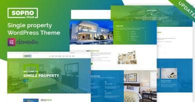 Sopnovilla – Single Property WordPress Theme 2