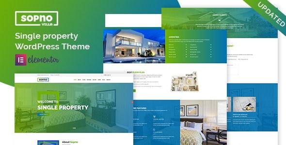 Sopnovilla – Single Property WordPress Theme 1