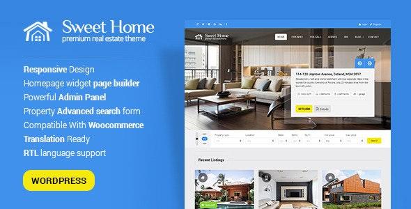 Sweethome - Responsive Real Estate WordPress Theme 1