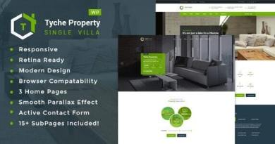 Tyche Properties- Single Property Real Estate WordPress Theme 4