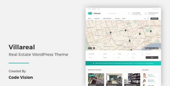 Villareal - Real Estate WordPress Theme 1