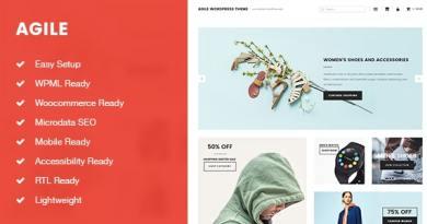 Agile Lightweight Blogging and Shopping WordPress Theme 4