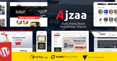 Ajzaa - Auto Parts Store WordPress Theme 4