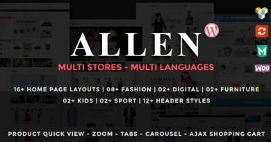Allen - Multipurpose Responsive WooCommerce Theme 14