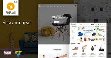 Ama.Ali - Market Furniture Shop WooCommerce WordPress Theme 2