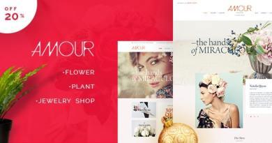 Amour - Shop WordPress theme - Flower - Jewelry - Handmade - Gift 2