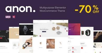 Anon - Multipurpose Elementor WooCommerce Themes 24