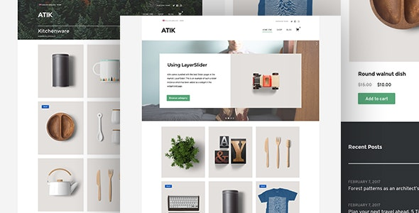 Atik - A Simple WordPress Theme for your Online Store 1