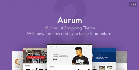 Aurum - Minimalist Shopping Theme 1