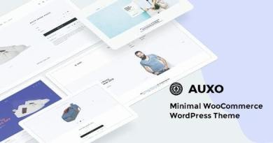Auxo – Minimal WooCommerce Shopping WordPress Theme 3