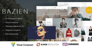 Bazien - WordPress / Woocommerce Responsive Theme 3