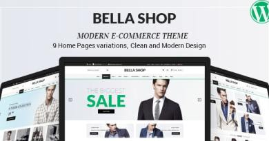 Bella - eCommerce Shop WordPress Theme 3