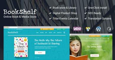 Bookshelf | Books & Media Online Store WordPress Theme 2