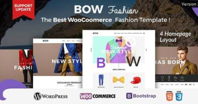Bow - Responsive Wordpress Woocommerce Theme 3