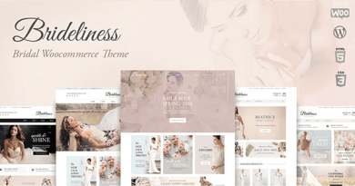 Brideliness - Wedding Shop WordPress WooCommerce Theme 2