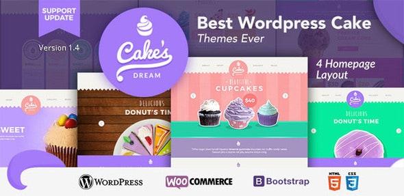 Cake Dream - Responsive Wordpress Woocommerce Theme 1