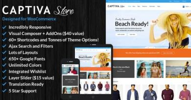 Captiva - Responsive WordPress WooCommerce Theme 12