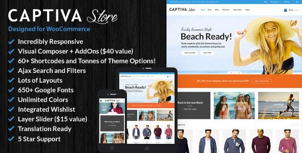 Captiva - Responsive WordPress WooCommerce Theme 9