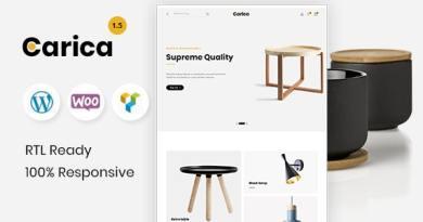 Carica - Furniture Handmade Shop WooCommerce Theme 2