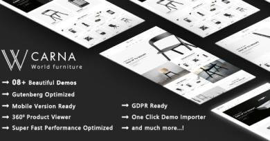 Carna | Luxury Furniture WooCommerce WordPress Theme 3
