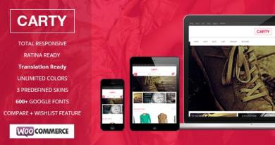 Carty Retina ,Responsive Woocommerce theme 2