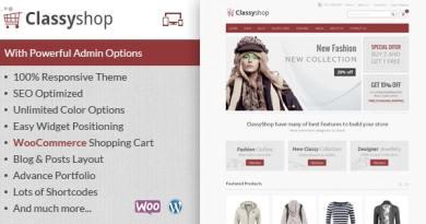 ClassyShop - WooCommerce Responsive Theme 3