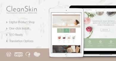 CleanSkin | Handmade Organic Soap & Natural Cosmetics Shop WordPress Theme 3