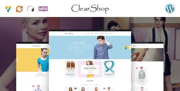 Clear Shop - Wonderful Responsive WooCommerce Theme 1