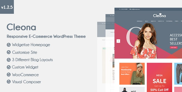 Cleona - Responsive E-Commerce WordPress Theme 7