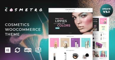 Cosmetro - Cosmetics Store Elementor WooCommerce Theme 2