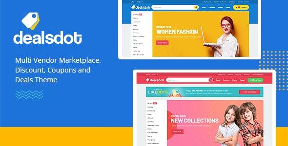 Dealsdot - Multi Vendor Marketplace Theme 4