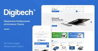 Digitech - Technology Theme for WooCommerce WordPress 2
