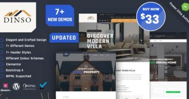 Dinso - Single Property & Apartment WordPress Theme 3