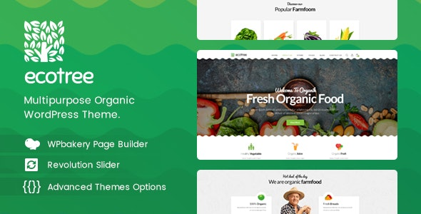 Ecotree - Organic Food WordPress Theme 8