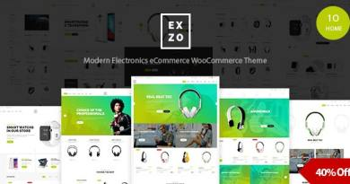 Electronics eCommerce WordPress Woocommerce Theme - Exzo 2