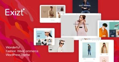 Exizt  - Fashion WooCommerce WordPress Theme 2