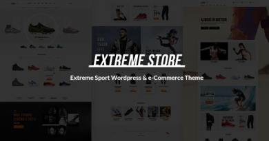 Extreme | Sports Clothing & Equipment Store WordPress Theme 3