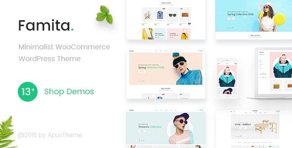 Famita - Minimalist WooCommerce WordPress Theme 2