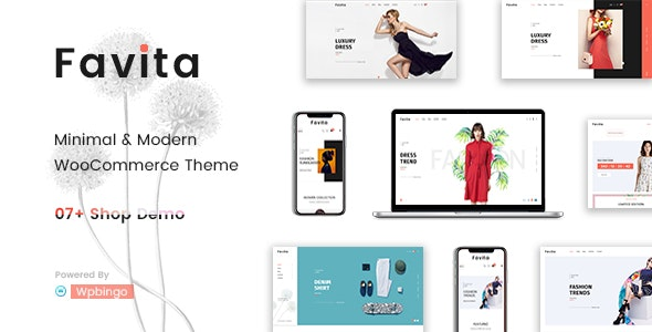 Favita - Fashion WooCommerce WordPress Theme 1