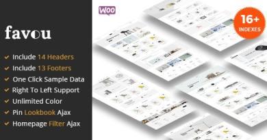Favou - Minimal and Modern WooCommerce Ajax Theme 2