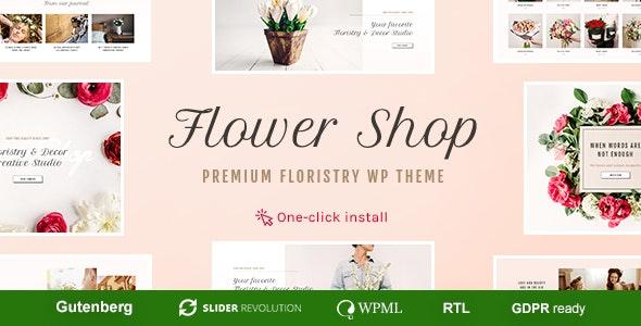 Flower Shop - Florist Boutique & Decoration Store WordPress Theme 3